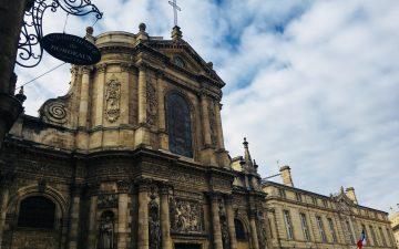 Devanture de l'église Notre Dame deBordeaux