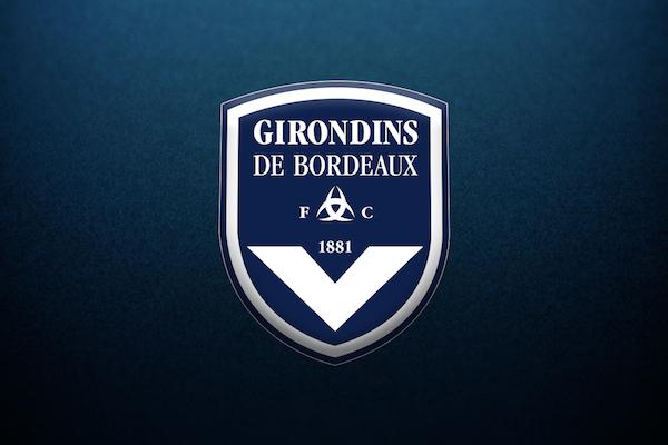 Logo des Girondins sur fond bleu