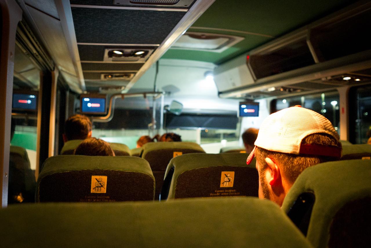 Photo intérieur d'un bus - photo de couverture