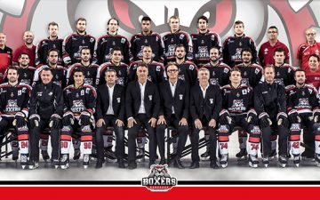 Photo des joueurs de l'équipe de hockey sur glace des Boxers de Bordeaux