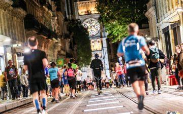 Coureur marathon de Bordeaux-Place Peu Berland