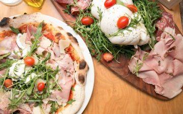 Bocce - pizza et burrata